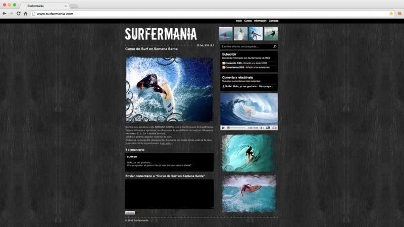 Surfermanía: web