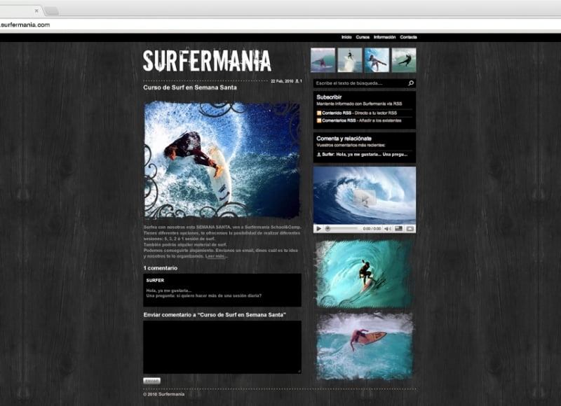 Surfermanía: web