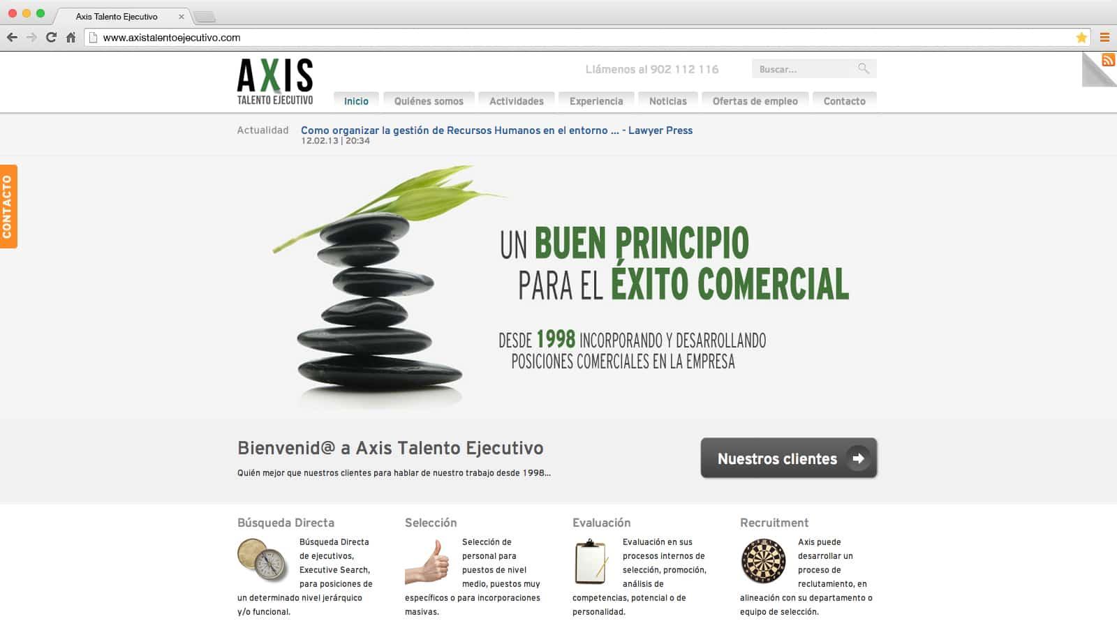 Axis Talento Ejecutivo: web