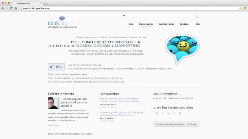 Thinkking Online: web