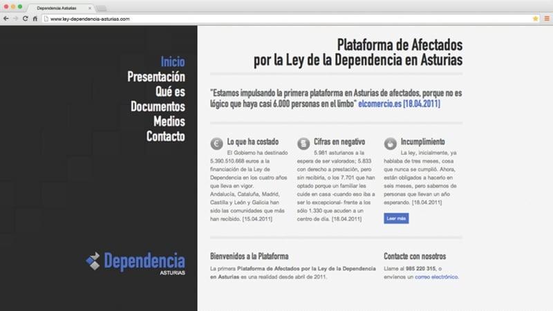 Ley de Dependencia: web