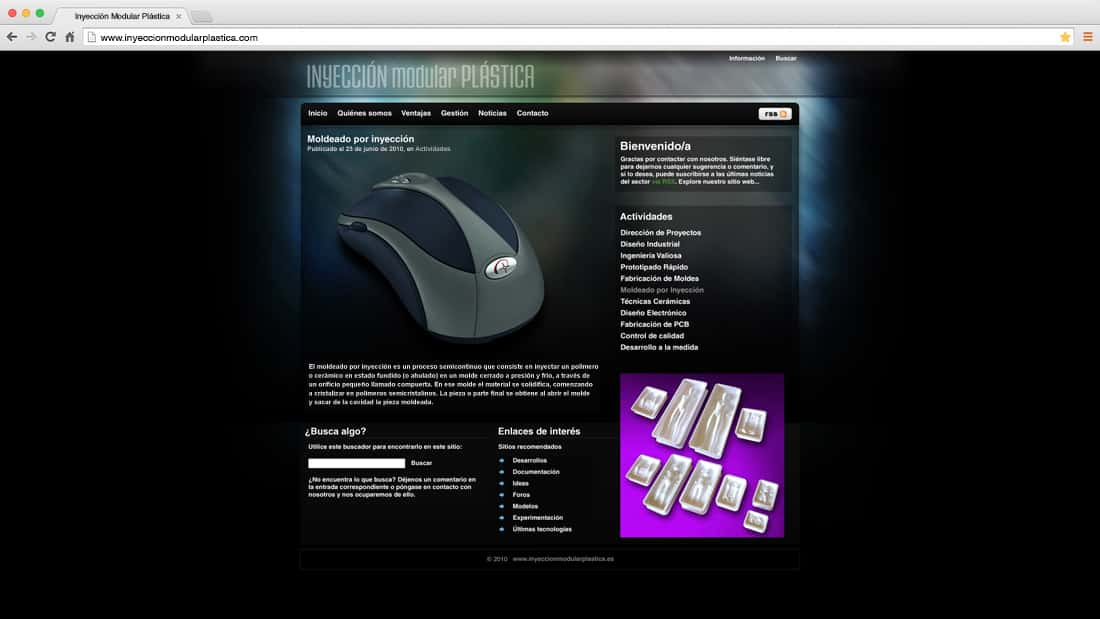 Inyeccion Modular: web