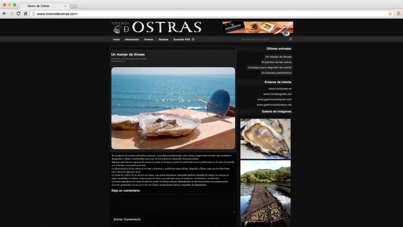 Vivero de ostras: web