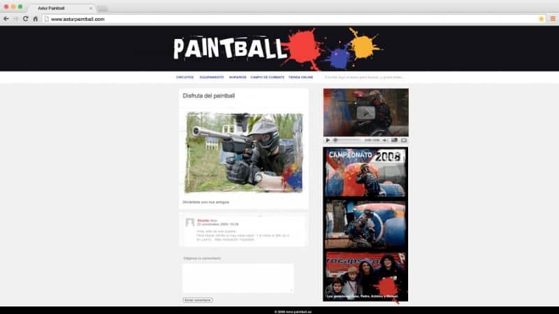 Astur Paintball: web