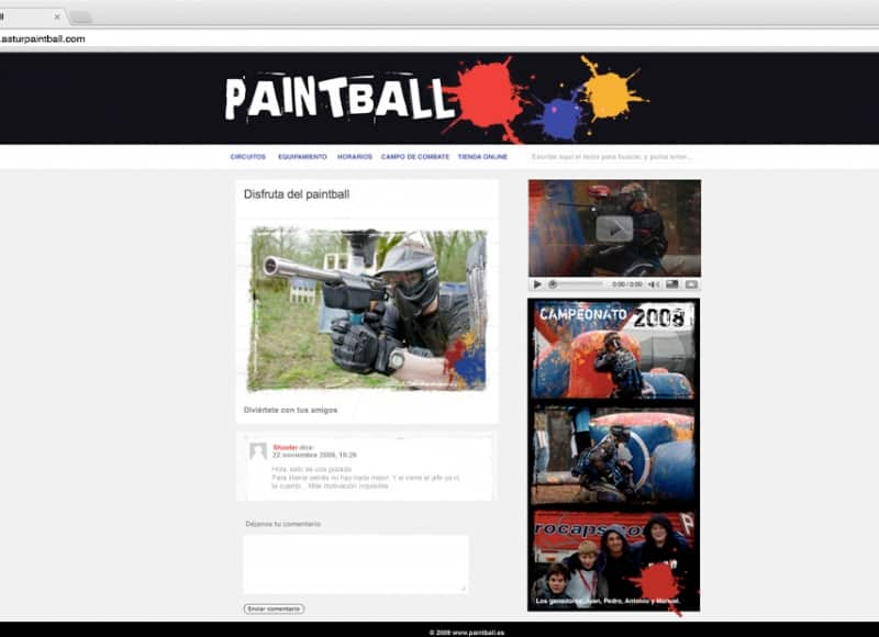 Astur Paintball: web
