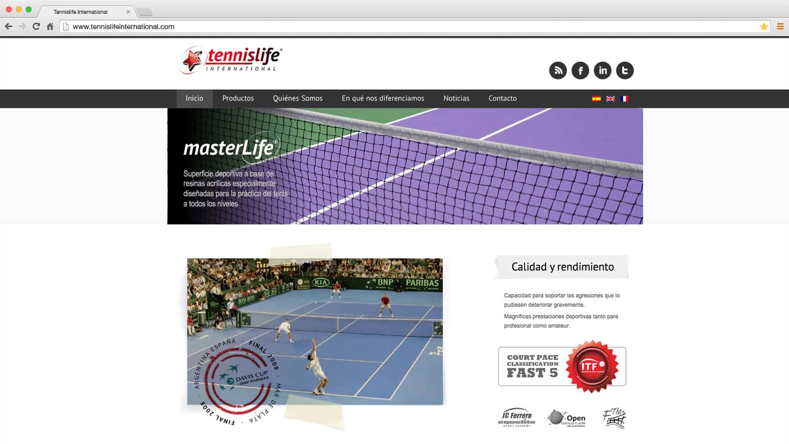 Tennislife International: web