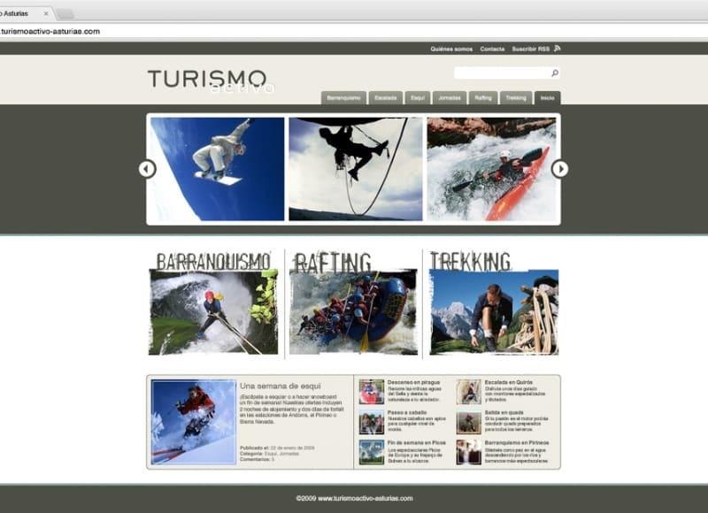 Turismo Activo Asturias: web