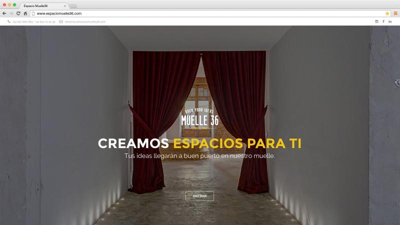 Web Espacio Muelle 36 Madrid - víctor merino | vídeo marketing online