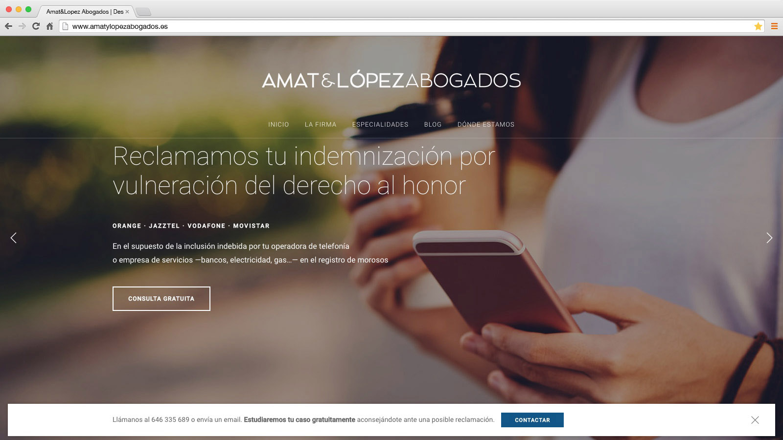 Website Amat&López Abogados - víctor merino | vídeo marketing online