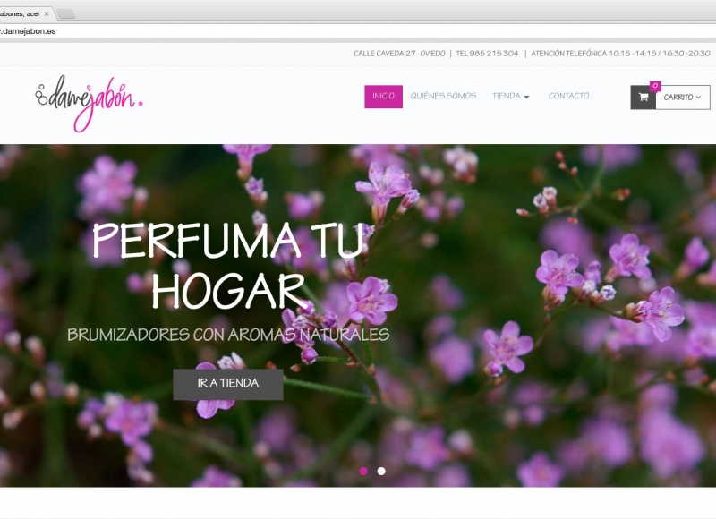 Web tienda online Dame Jabón - víctor merino | vídeo marketing online