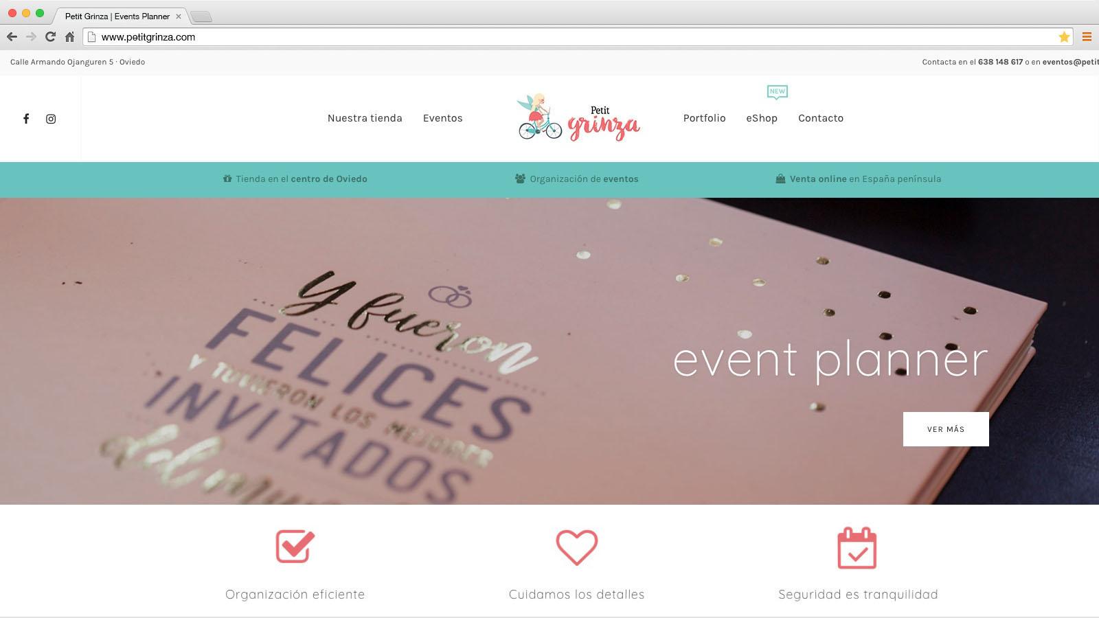 Website Petit Grinza - víctor merino | vídeo marketing online