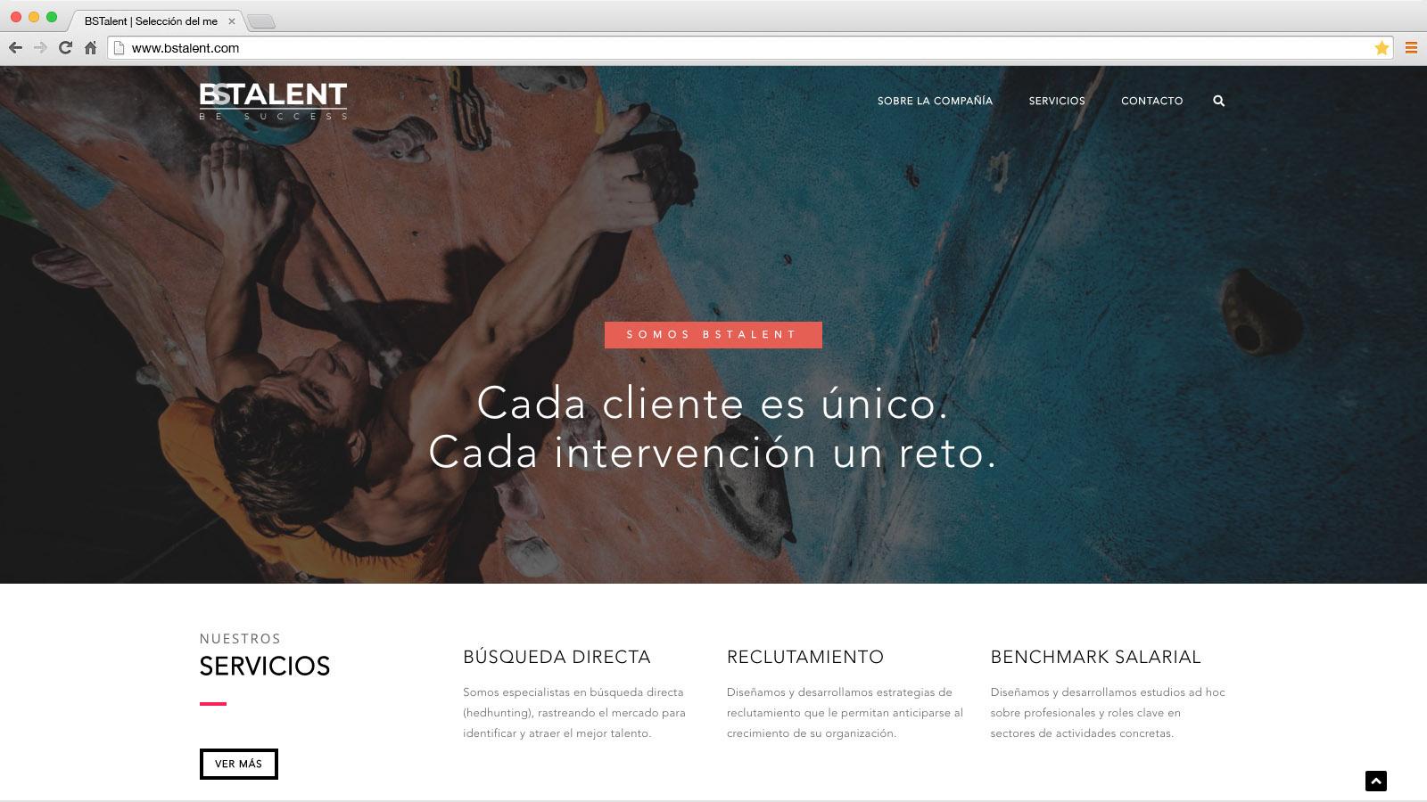 Website BSTalent - víctor merino | vídeo marketing online