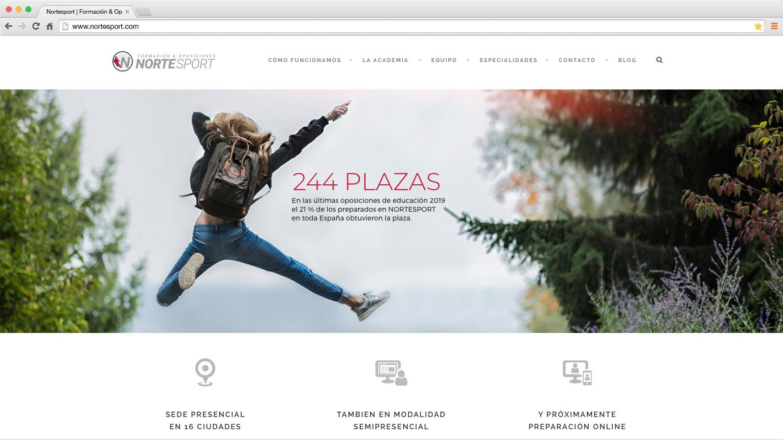 Website Nortesport Formación & Oposiciones- víctor merino | vídeo marketing online