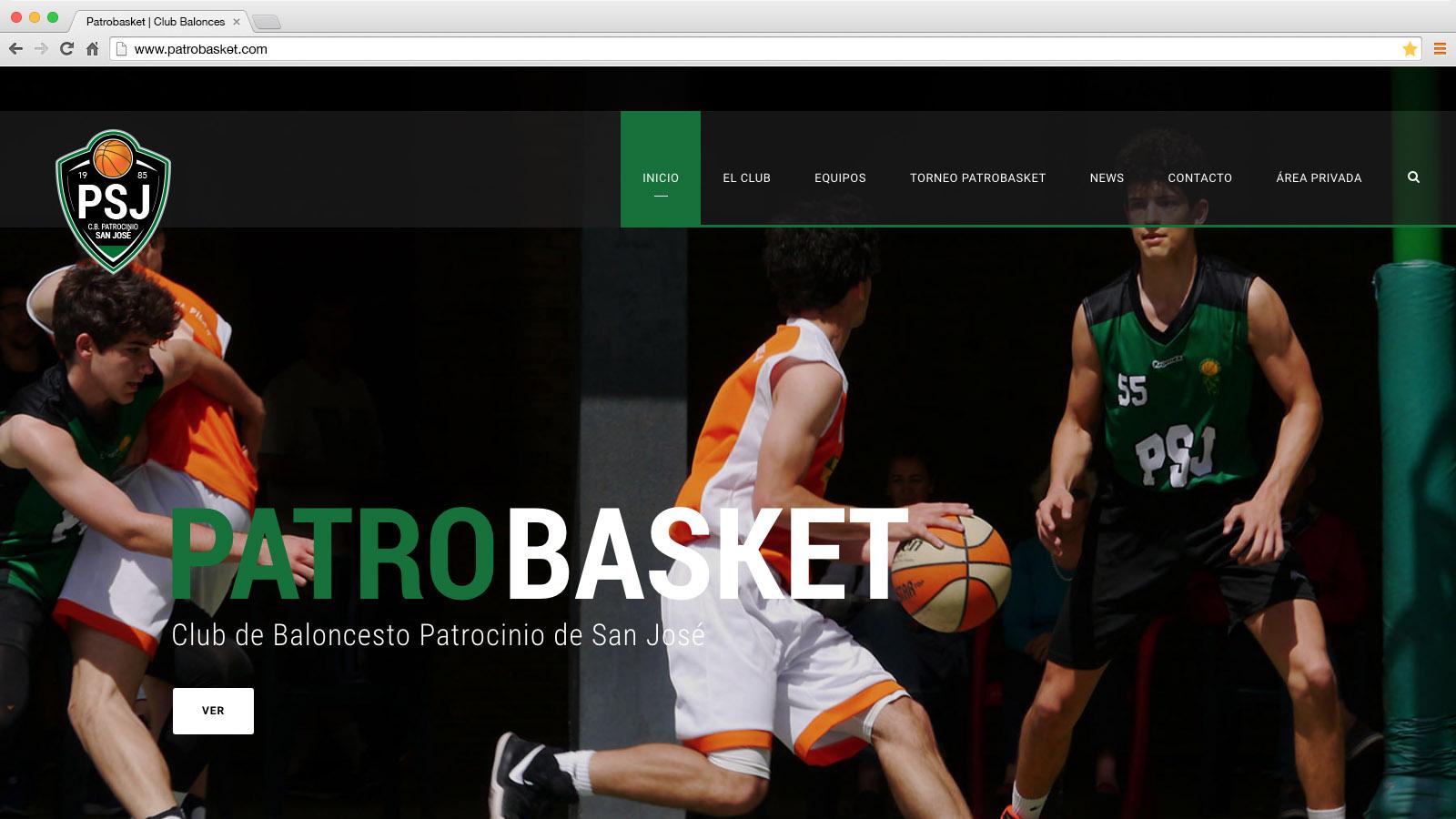 Website Patrtobasket - víctor merino | vídeo marketing online