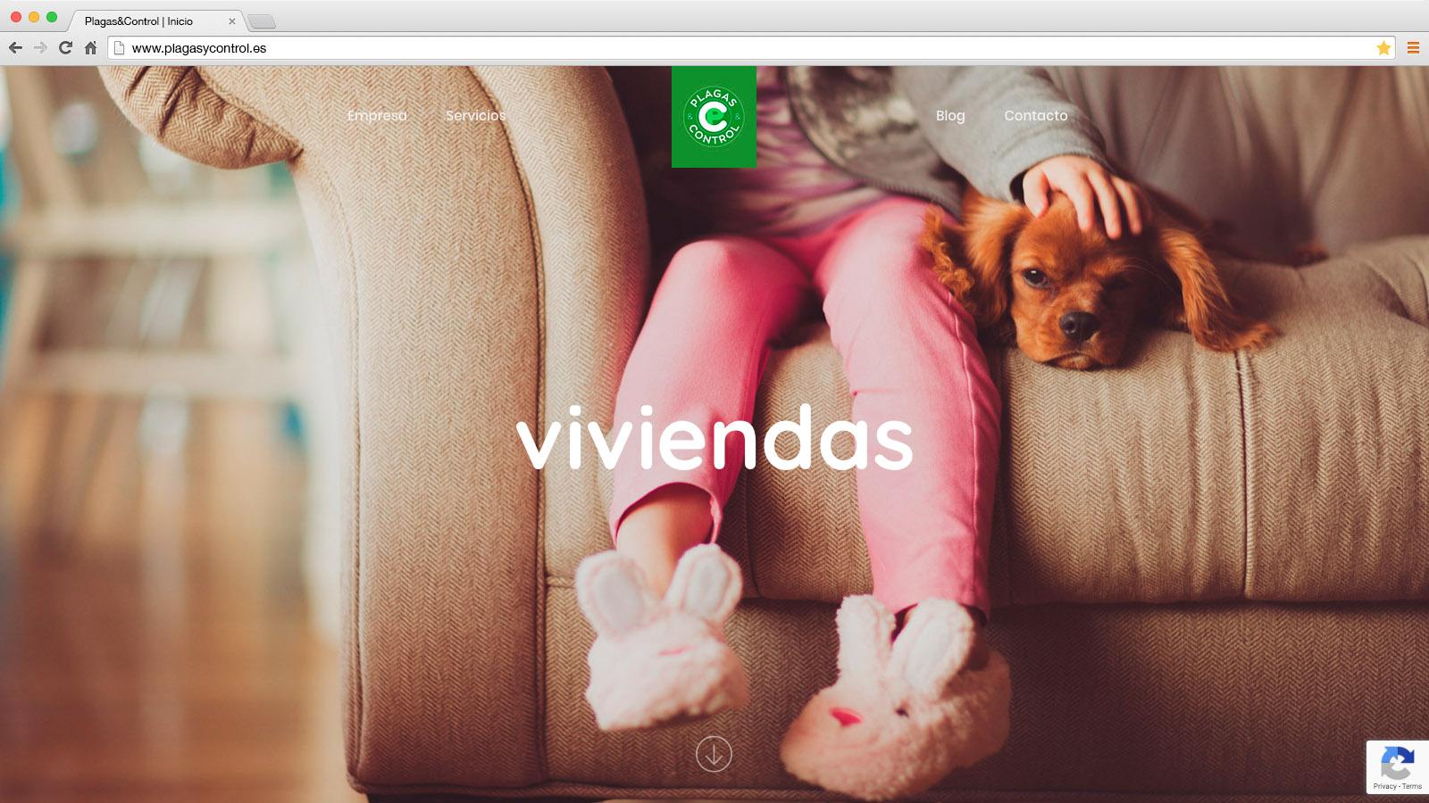 Website Plagas & Control - víctor merino | vídeo marketing online