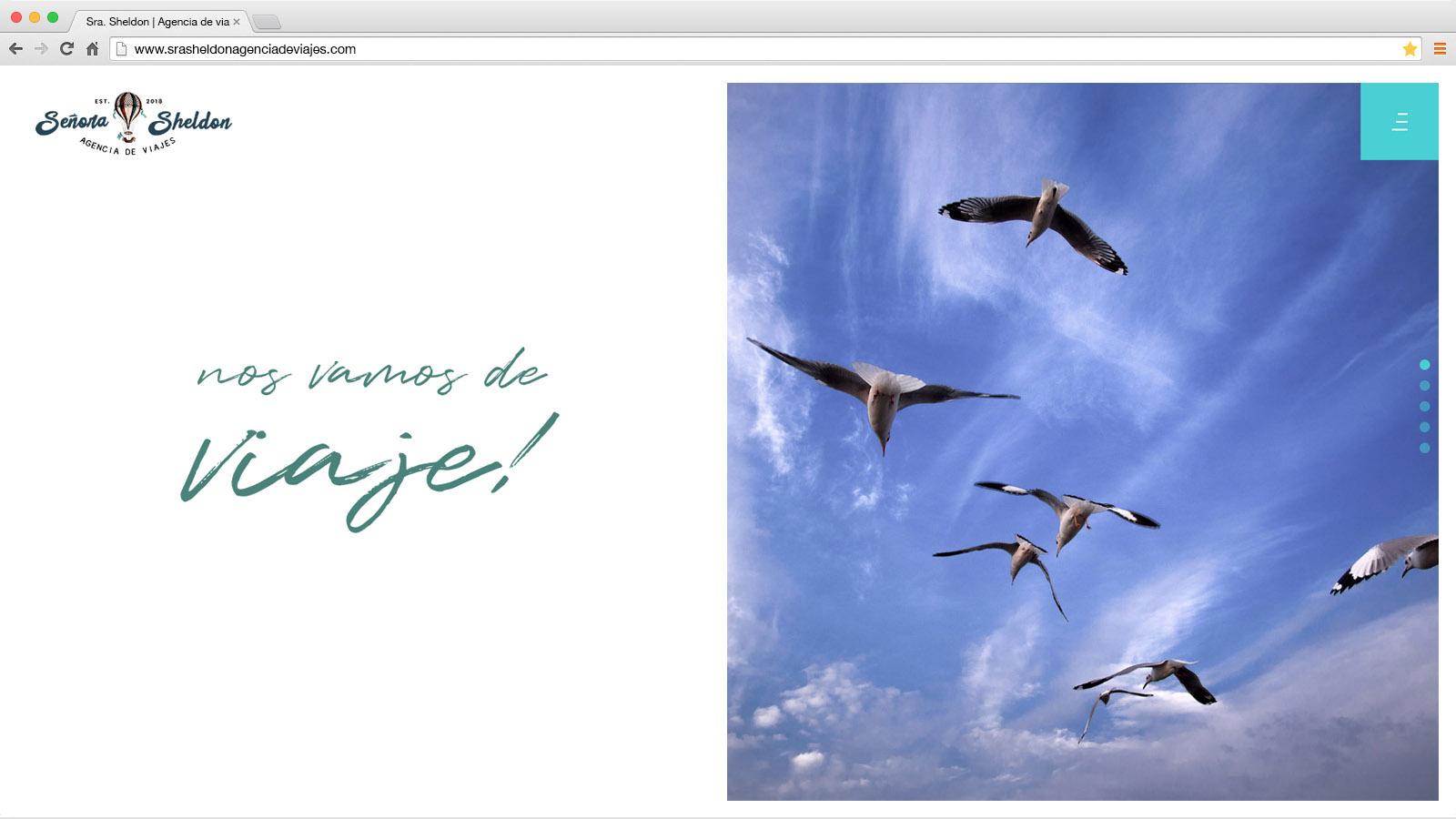 Website Señora Sheldon Agencia de Viajes- víctor merino | vídeo marketing online