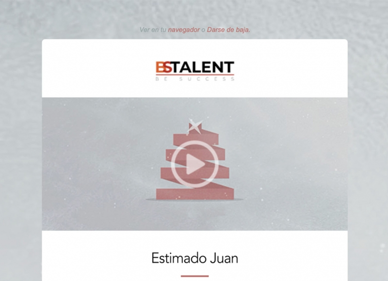 campaña emailing bs talent - víctor merino | vídeo marketing online