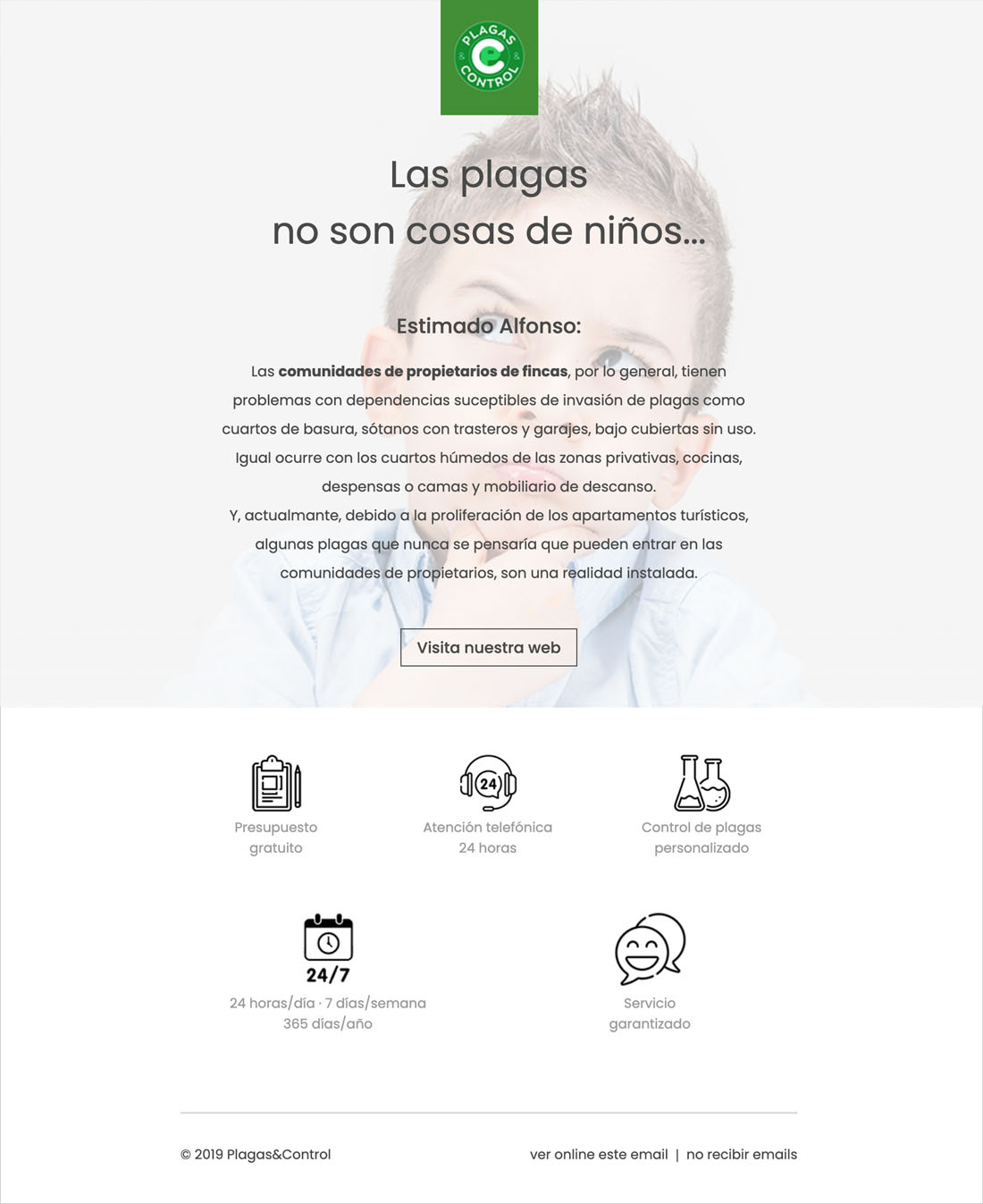 Campaña emailing