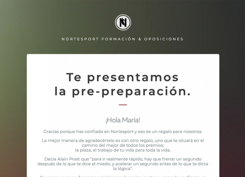 campaña emailing nortesport - víctor merino | vídeo marketing online