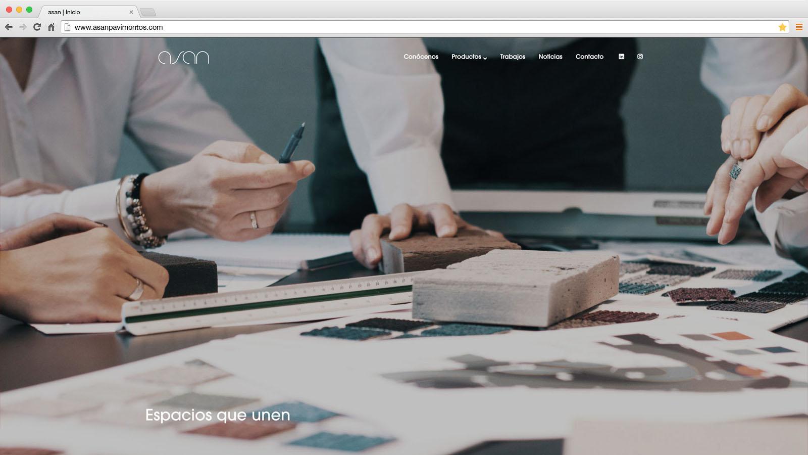 Website Asan Pavimentos - víctor merino | vídeo marketing online