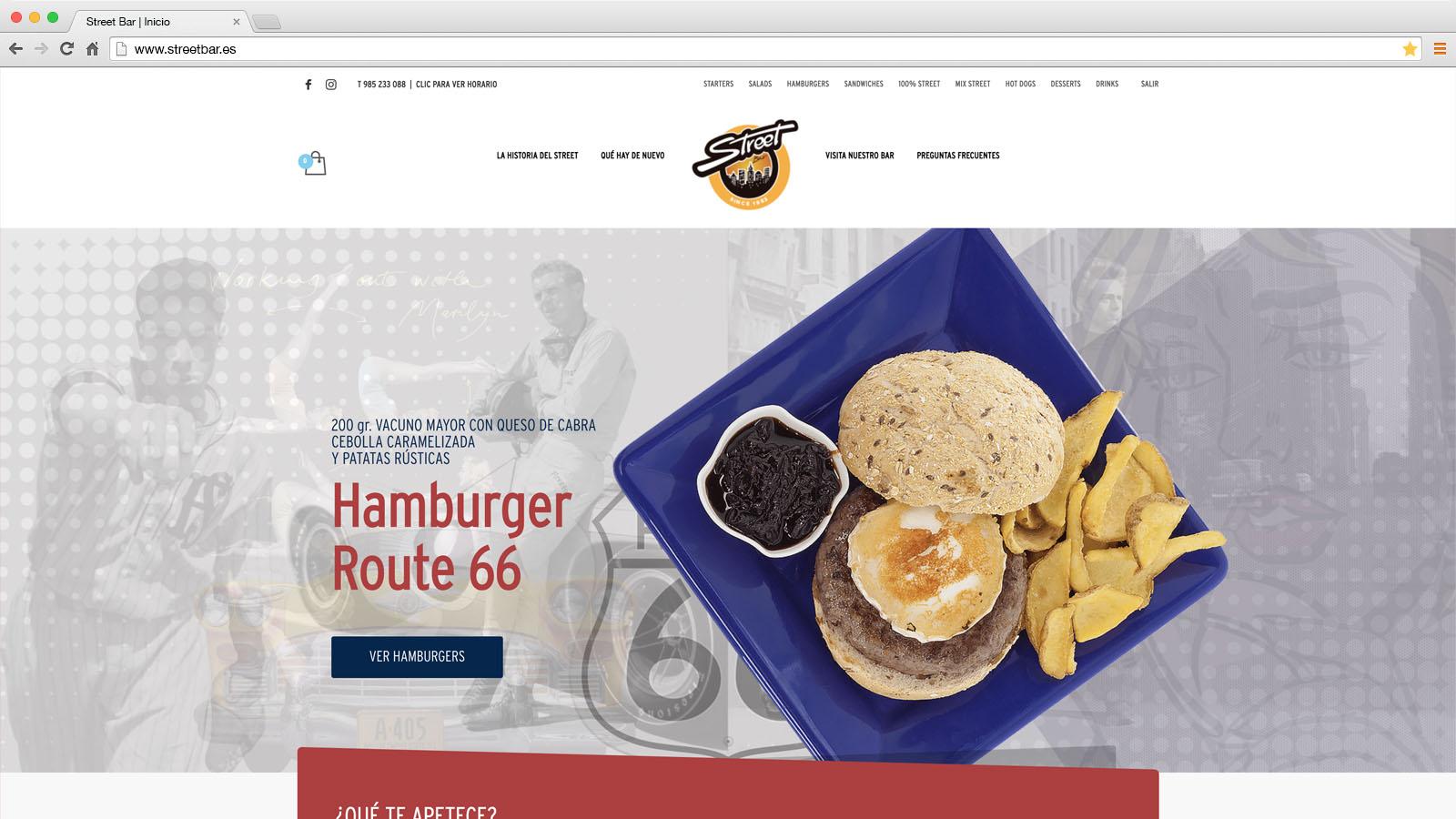 Website Street Bar - víctor merino | vídeo marketing online